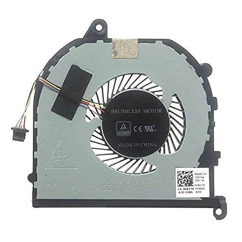 Nuova ventola di raffreddamento della CPU del laptop di ricambio per Dell XPS 15 9570 Precision 5530 DFS501105P00T FJ6J DC5V 0.5A 008YY9 08YY9 Nuovo