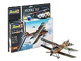 Revell- Model Set Albatros DIII Maqueta Fiel al Original para avanzados, con Accesorios básicos, Color Plateado (64973)
