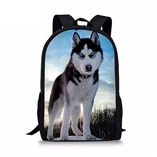 HUGS IDEA - Mochila escolar ligera para niños, Husky (Gris) - Y-H1022