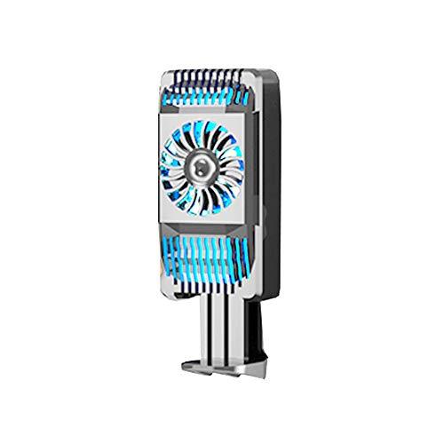 Handy kühler, Handy lüfter, lüfter für Handy, Verhindern Sie, DASS das Handy heiß Wird, Handy-Heizkörper, Halbleiter-Kühlgerät for aktive Kühlung, Handy-Kühler for Spieler (Farbe : Silber)