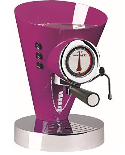 BUGATTI, Diva Evolution, Macchina da caffè Espresso e Cappuccino, per caffè macinato in Polvere e Cialde, Funzione Vapore Non-Stop, 15 Bar, 950 W, capacità 0.8 Litri, Design Elegante (Lilla)
