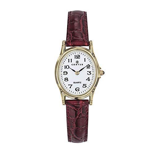Certus Damen Analog Quarz Uhr mit Leder Armband 646448