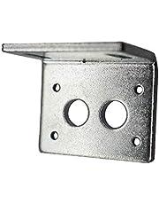 1pc Tor Bracket L-vormige Montage Metal Base houder for JGY370 Worm Gear Motor (Color : Silver)