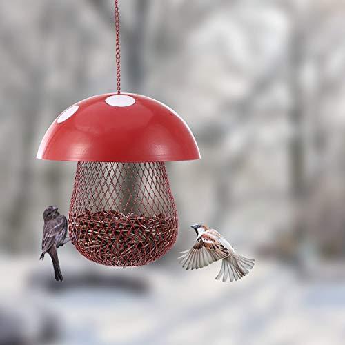 GHDBHFD Bird Feeder Wild Bird Seed Feeder Außen Dekorative Garten Metall Hänge Lebensmittel Mesh-Haus