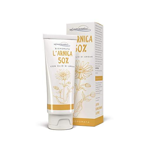 Saf.Nutraceutica - L  Arnica 50% con Olio di Argan - Biopomata con il 50% di estratto di Arnica Montana. Made in Italy. 75 ml