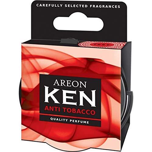 AREON Ken Ambientador Coche Aire Antitabaco Lata Debajo Asiento Olor Rojo 3D (Pack de 3)
