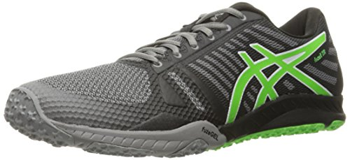 ASICS Men's FUZEX TR Cross-Trainer Shoe, Aluminum/Green Gecko/Black, 12 M US