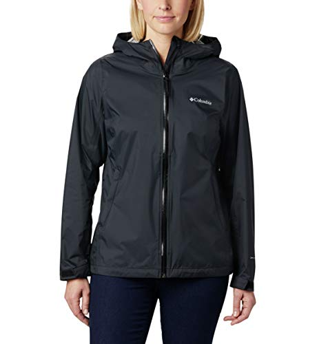 Columbia Women's EvaPOURation Jacket, Waterproof & Breathable,Black,X-Large