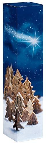 10 pezzi foresta invernale, scatola pieghevole per una bottiglia di vino 1er Blu