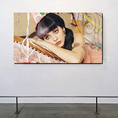 KWzEQ Schöne Sänger Leinwand Ölgemälde Bild Wohnzimmer Dekoration Malerei Wandbild Moderne Home Ölgemälde,Rahmenlose Malerei,50x90cm