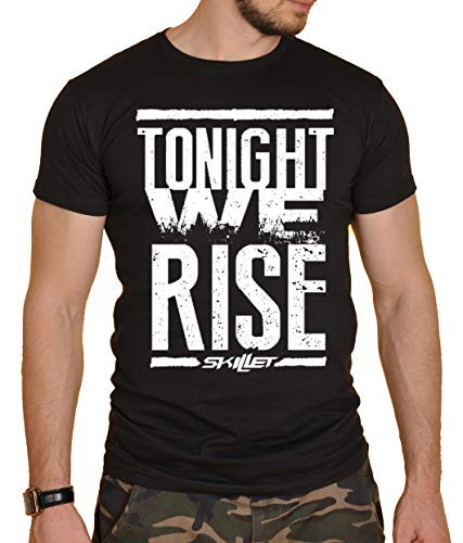 Skillet Round Neck Rock Band T-Shirt Black New Herren T-Shirt Schwarz Schwarz Gr. M, Schwarz