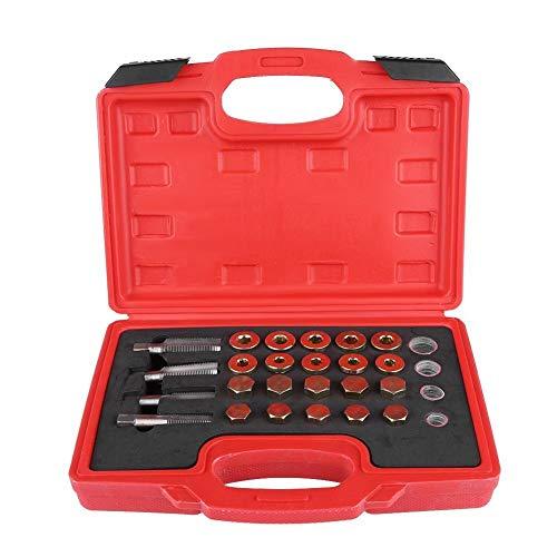 Tarente Tapon Cambio Aceite, 64pcs Cárter de Aceite de reparación de roscas Kit de colector de Aceite de Caja de Cambios Tapón de Drenaje del Sistema de Herramienta M13 M15 M17 M20