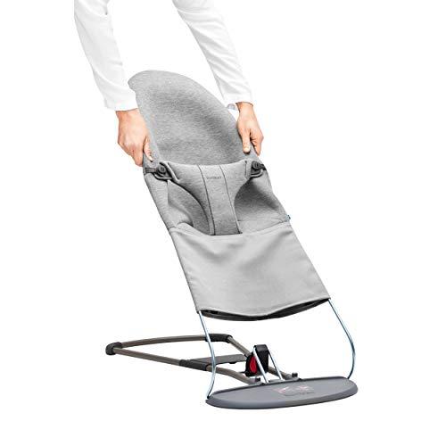 BabyBjörn Stoffsitz für Babywippe, 3D Jersey, Hellgrau, 012072