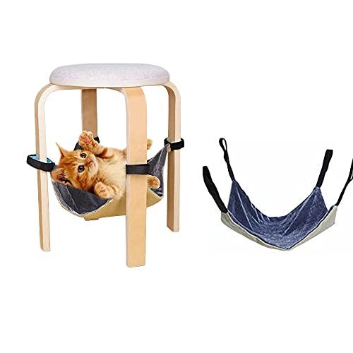 Hamaca para mascotas debajo de la silla, columpio colgante de la hamaca del gato (gris)