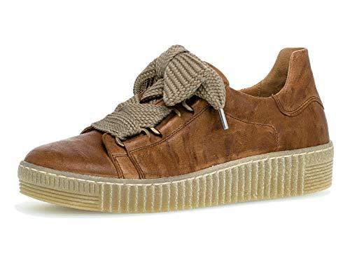 Gabor Damen Sneaker 33.330, Frauen Low-Top Sneaker,Halbschuh,Schnürschuh,Strassenschuh,Business,Freizeit,Copper (Natur),42 EU / 8 UK