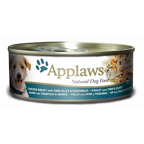 Applaws hond, Thunvis en rijst, natte voer, doosje, per stuk verpakt (1 x 2.496 kg)