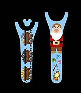 Vinyl Skin Decal Wrap Sticker Cover for the MagicBand 2 Magic Band 2 Dwarf Grouchy Mining Themed