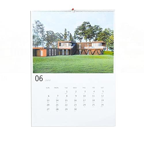 Hsjx Calendar 2022,Monthly Wall Calendar with Thick Paper,Aesthetic Floral Family Calendar Runs Jan.2022-Dec.2022,53X75 Cm,Calendar Family Planner