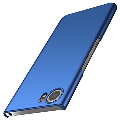 BlackBerry Keyone Hülle, Anccer [Serie Matte] Elastische Schockabsorption & Ultra Thin Design für Keyone (Glattes Blau)