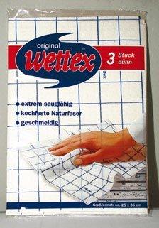 Wettex Schwammtücher dünn, kochfeste Naturfaser, 25 x 36 cm - 3 St.