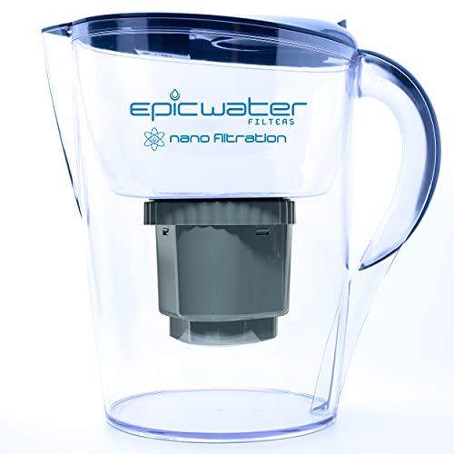 Epic Nano Water Filter Pitcher | Navy | 3.5L | BPA-Free | Nanofiltration...