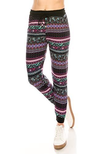 ALWAYS Women Drawstrings Jogger Sweatpants - Skinny Fit Premium Soft Stretch Pockets Track Pants Boho US S (Tag S/M)