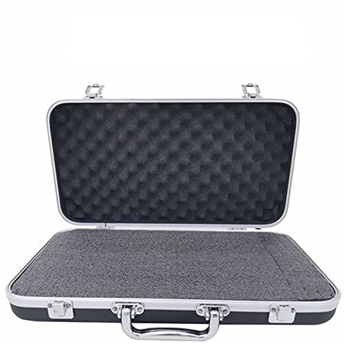 Maleta de herramientas de aleación de aluminio de plástico portátil Caja de almacenamiento de la caja de la seguridad de la seguridad del impacto con la esponja (Color : 405x215x75mm)