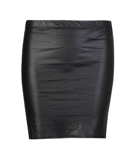 Fast Fashion Damen Röcke Wetlook Kunstleder Bodycon / Ausgestellte (EUR = 48 - 50, Mini-Röcke)