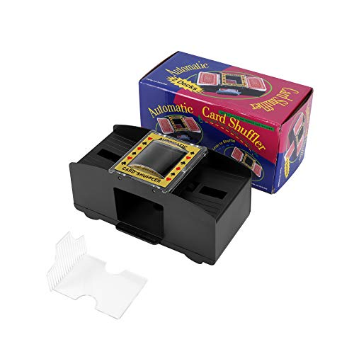 LTXDJ Kartenmischmaschine, Automatischer Kartenmischer Automatischer Poker-Karten-Shuffler 2 DeckSpielkarten Shuffler für Home Party Club Bridge-Pokerspiele, Poker, Rommé, UNO