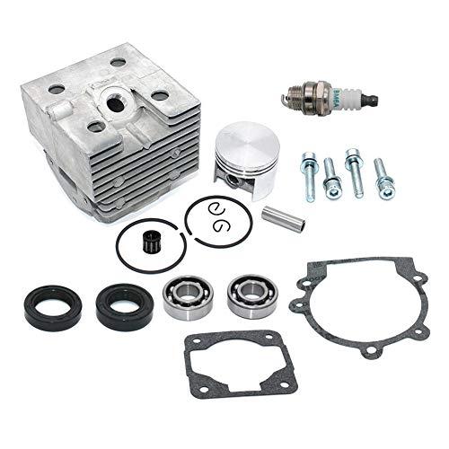 SeekPro Kit de pistón de Cilindro Junta de bujía Jaula de Aguja para soplador Stihl BR320 BR320L SR320 BR340 BR340L BR380 BR400 BR420 BR420C SR400 SR340 SR420