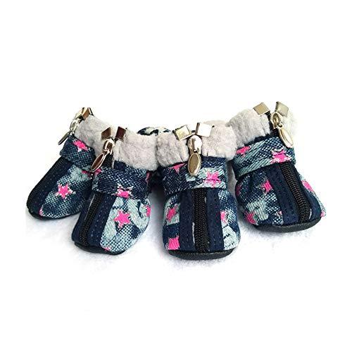 HAYI Botas para Perros, Zapatos Perro Ambiental Gato Botines Calcetines de Goma Impermeable Gatos de Invierno de Calzado Botas Set Animales Productos for Perros pequeños al Aire Libre Perros Zapatos