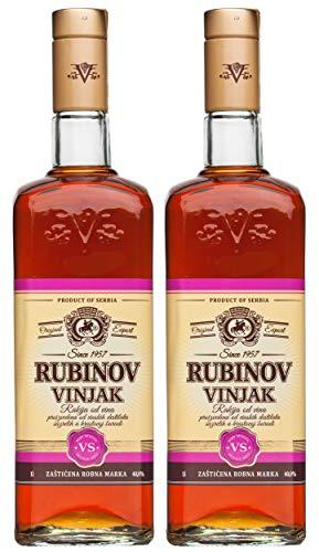 2 x Vinjak (Vignac) Rubin VS Weinbrand 1 l