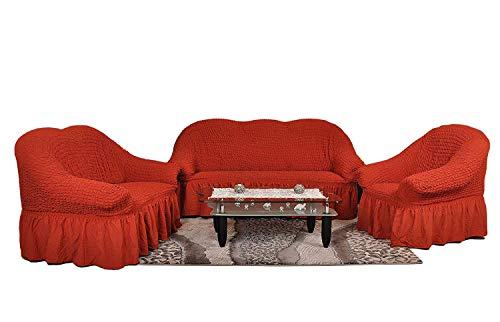 My Palace 3-Sitzer + 2-Sitzer + Sessel Sofabezug Sofahusse Sofaüberwurf 3 er Couchbezug Sofaschoner...