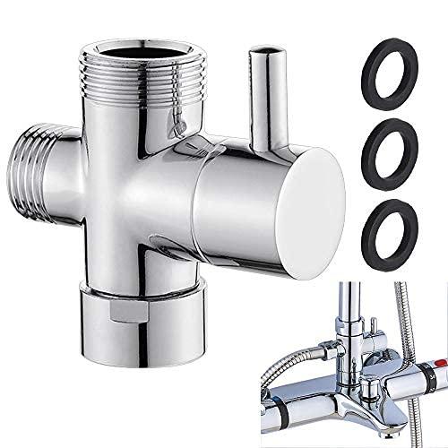 3 Wege Umschaltventil Messing Brause Adapter Dusche Arm Umstellventil Dusche Umschalter Duschsystem Ersatzteil für Toiletten, Badezimmer, Küche