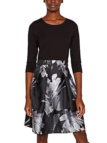 ESPRIT Collection Damen 109Eo1E004 Kleid, 001/BLACK, (Herstellergröße: 36)