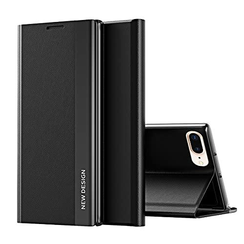 iPhone SE 2020 Custodia, Midcas Cover Sottile Protettivo in PU Pelle con Chiusura Magnetica e Supporto per iPhone 7/8 / SE 2020 Nero