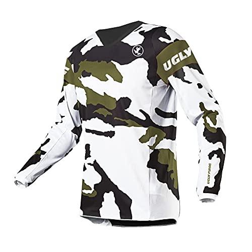 UGLY FROG Motocross-Shirt Langarm | MX MTB Mountainbike | Passform für Maximale Bewegungsfreiheit, Element Youth Downhill Jersey