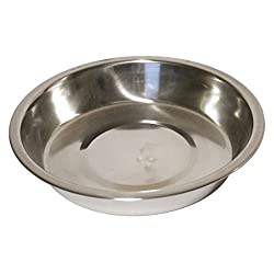 Quality stainless steel shallow bowl suitable for puppies/small dogs. Dishwasher safe. 0 0 0