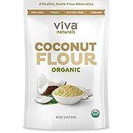 Organic Coconut Flour (4 LBS) - Perfect for Gluten Free Baking, Paleo & Vegan Certified, Unbleached & Unrefined Baking Flour Substitute, 1.81 kg