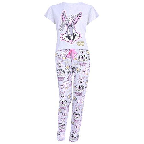 Looney Tunes Graue Pyjama Bugs Kaninchen Verrückte Melodien - 32-34 / UK 6-8 / EU 34-36