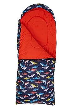 Mountain Warehouse Sac de Couchage Apex Mini à Motifs pour Enfant - léger, en Fibre Creuse, Isolant, pour l'extérieur - Idéal pour Le Camping Rouge Taille Unique