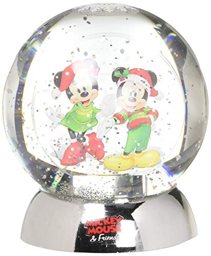 Department 56 Disney Classic Brands Mickey and Minnie Waterdazzler Waterball, 4.5' Snowglobe, Multicolor