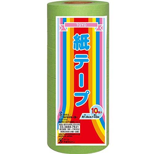 トーヨー 紙テープ 10巻入 黄緑 113019