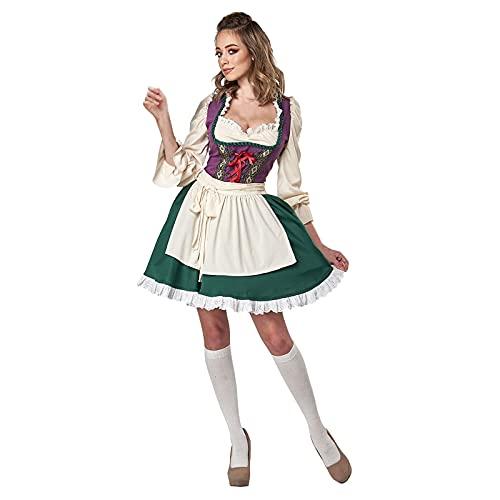 NISOWE Disfraz de maz para mujer, Halloween, Oktoberfest, escultura, escenario, cosplay, disfraz de maz, l, M