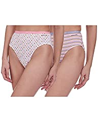 Fruit of the Loom Womens Plain Cotton Hipster (Pack of 2)