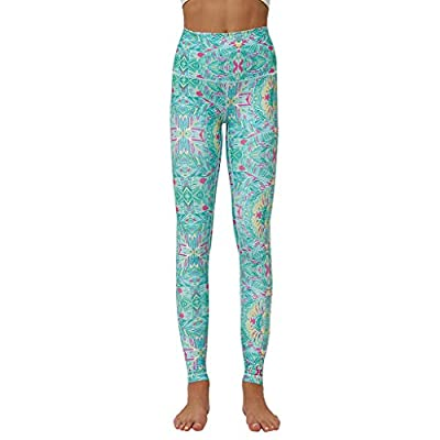 PlayMate Leggings High Waist Yoga Pants for Women with Pocket Tummy Control Digital Printing Sports Skinny Trousers by PlayMate