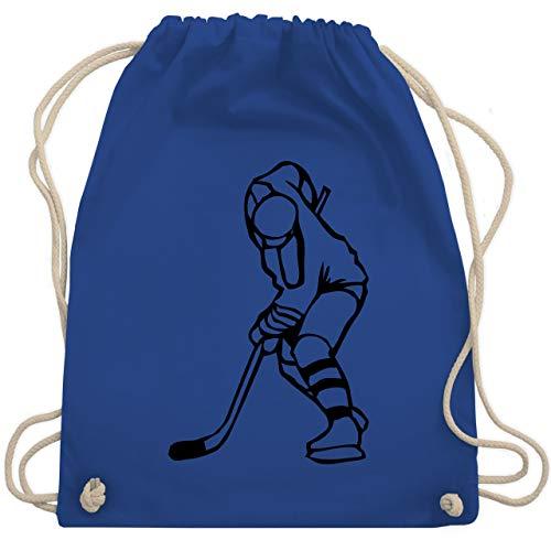 Shirtracer Eishockey - Eishockeyspieler - Unisize - Royalblau - eishockey turnbeutel - WM110 - Turnbeutel und Stoffbeutel aus Baumwolle
