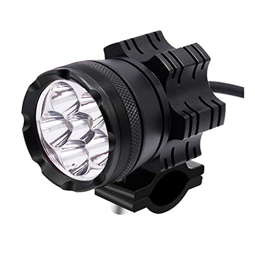 IPOTCH Abrazadera de Lámpara de Cabeza Delantera de Faro LED de 30 W / 45 W en Lámpara Auxiliar - Negro + negro 30w