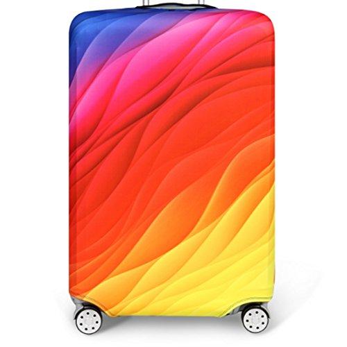 Bestja Elastica Proteggi Valigia Suitcase Luggage Cover, Lavabile Viaggio Bagagli Coprire Copri Valigia Copertura per Valigia (Multicolore, L)