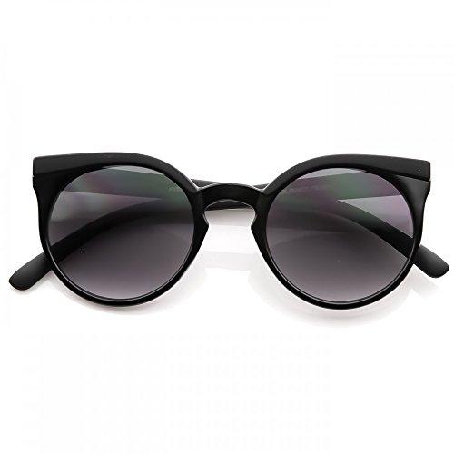 KISS Gafas de sol mod. GROUND estilo Rihanna - redondo fashion MUJER rockabilly vintage - NEGRO